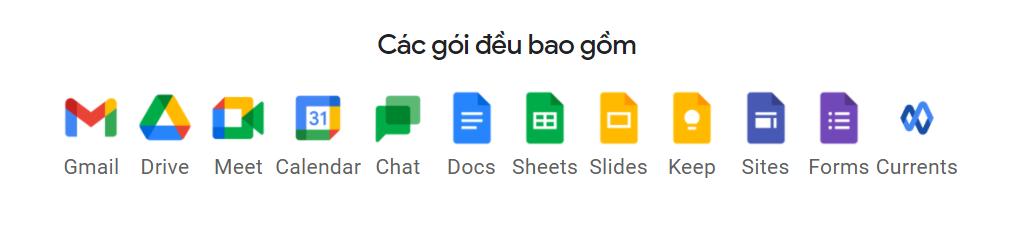 bộ công cụ Google Workspace