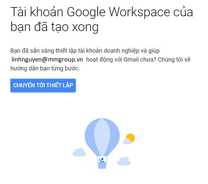 Tạo email tên miền Google 6
