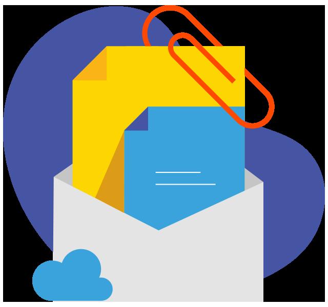 tệp đính kèm zoho mail