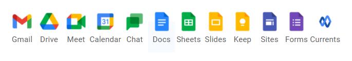 Tính năng Google workspace