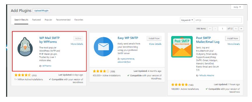 Cấu hình SMTP