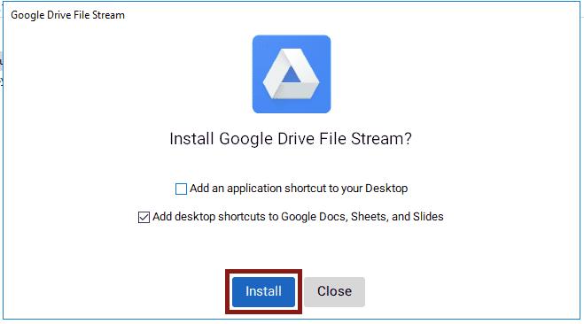 Drive file Stream