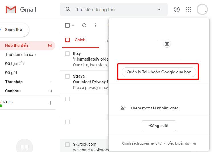 Tạo Gmail