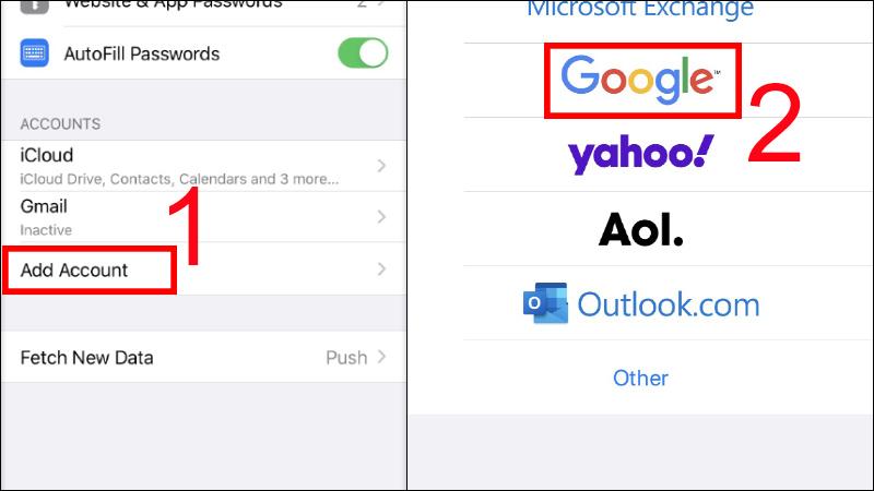 Xem danh bạ Gmail
