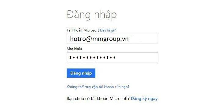 Cai đặt Office 365